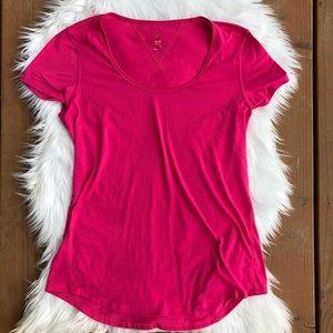 [Lucy] Hot Pink Short Sleeve Top - Size Medium